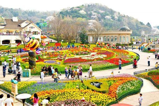 Du lịch Hàn Quốc mùa Thu - Công viên Everland